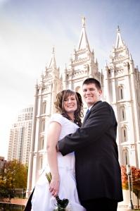 Salt Lake Temple, Utah Wedding Photographer