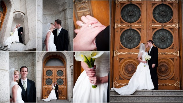 Salt Lake Temple, Salt Lake Wedding Photographer, Utah Wedding Photographer, LDS Photographer, December Wedding, Snow Wedding, Awesome Weddings